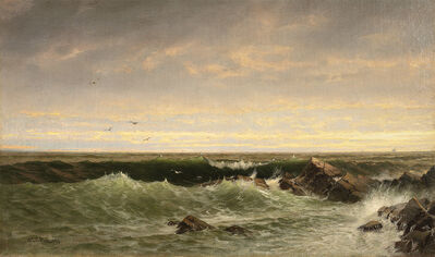 William Trost Richards, 'The Evening Sea, Brigantine, Shoals', Late 19th century