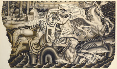 Jean Dupas, 'Study for The Chariot of Poseidon Mural for the SS Normandie', 1935