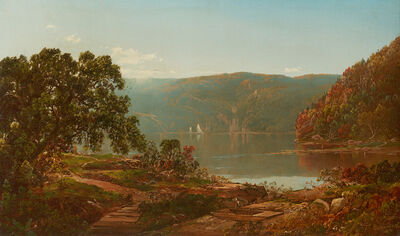 William Louis Sonntag, 'Morning on the Cro' Nest, Hudson River', 1864