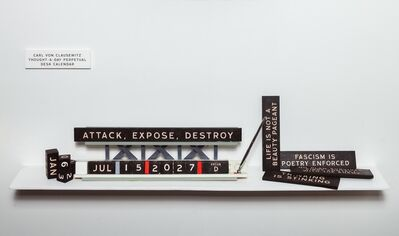 Skylar Fein, 'Carl von Clausewitz Thought-A-Day Perpetual Desk Calendar', 2019