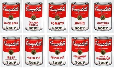 Andy Warhol, 'Soup cans (Sunday B Morning Portfolio of 10)', 1980