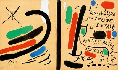 Joan Miró, 'El somriure al peu de l'escala', ca. 1970