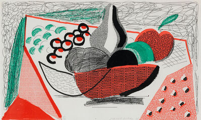 David Hockney, 'Apples Pears & Grapes', 1986