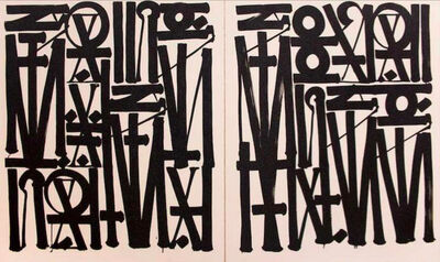RETNA, 'Say My Name, You Can See Me (Diptych)', 2017