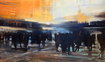 David Allen Dunlop, 'City Life in the Station', 2017