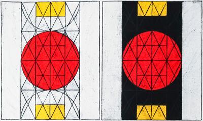 Matt Mullican, 'Untitled (Centering on the Subjective and Centering on the Subjective with Black)', 2014
