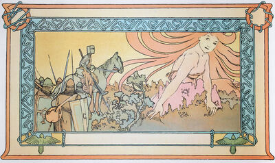 Alphonse Mucha, 'Soldiers Dream, 62', 1982
