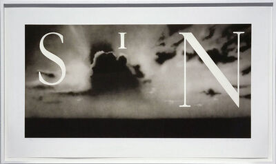 Ed Ruscha, 'Sin / Without ', 2002