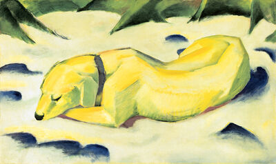 Franz Marc, 'Dog Lying in the Snow', 1910/1911