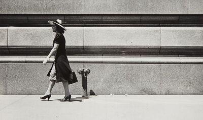 Rudy Burckhardt, '[Woman in Straw Hat]', 1940