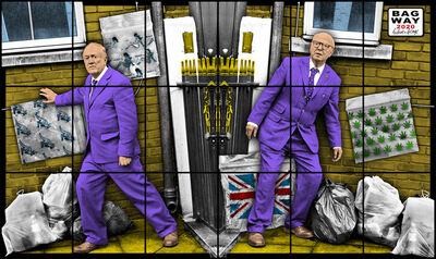 Gilbert and George, 'BAG WAY', 2020