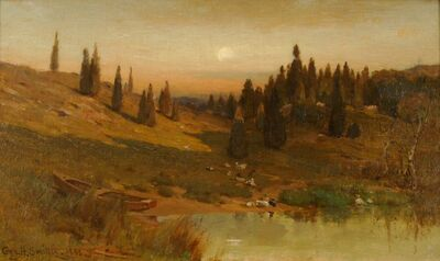 George Henry Smillie, 'Evening Among the Cedars', 1883
