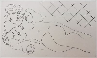 Henri Matisse, 'Figure Lying in front of a Tiled Floor (Figure allongée devant un carrelage)', 1929