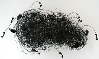 Robert Therrien, 'No title (black telephone cloud)', 1998