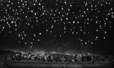 Purwanto, 'Starry Night Over the Sea Side', 2014