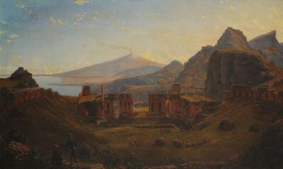 Eugene Von Guerard, 'Mt Etna from Taormina', 1838