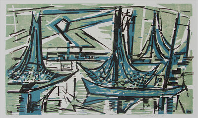 Werner Drewes, 'Fishing Fleet at Twilight', 1965