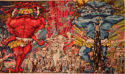 Takashi Murakami, 'Red & Blue Demon with 48 Arhats', 2013