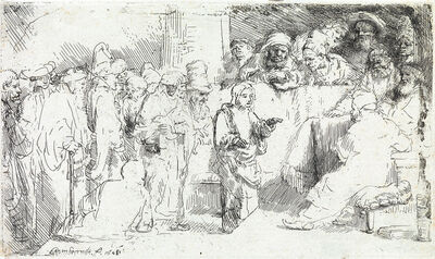 Rembrandt van Rijn, 'Christ Disputing with the Doctors: a Sketch', 1652
