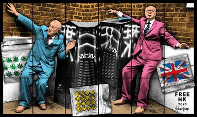 Gilbert and George, 'FREE HK', 2020