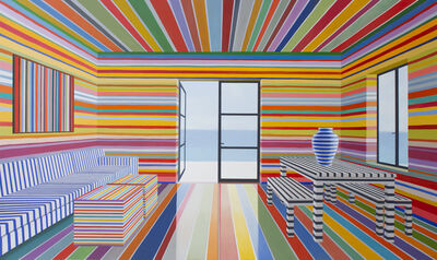 Tom McKinley, 'Rainbow Striped Room', 2017