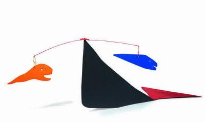 Alexander Calder, 'Fish teasing a whale', 1971