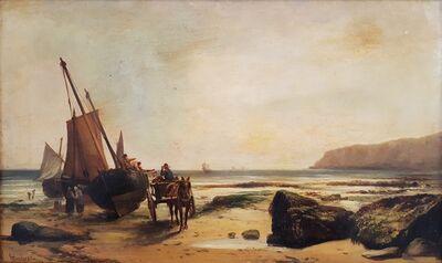 John Cheltenham Wake, 'Fishermen Unloading the Day's Catch, Dover', 1874