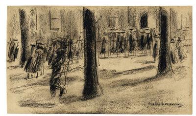"""Max Liebermann, 'Studie zum """"Schulgang in Laren""""', 1898"""