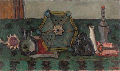 Giuseppe Santomaso, 'Natura morta con fanale, chiave e bottiglie (ID)', 1941