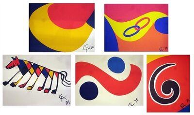 Alexander Calder, 'Portfolio of Five Braniff Airlines Lithographs', 1973