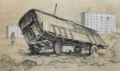 Jürg Kreienbühl, 'La roulotte bancale', 1977