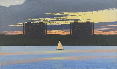 Bill Sullivan, 'New Jersey Skyline with Sailboat', ca. 1980
