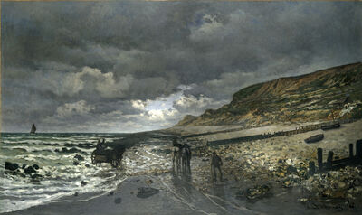 Claude Monet, 'La Pointe de la Hève at Low Tide', 1865
