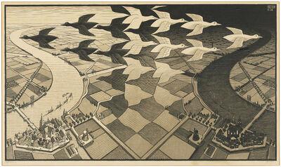 Maurits Cornelis Escher, 'Day and Night', 1938