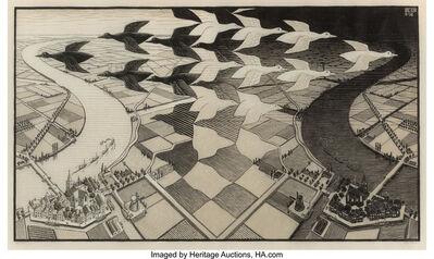 Maurits Cornelis Escher, 'Day and Night', 1935
