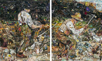 Vik Muniz, 'The Stone Breakers, after Gustave Courbet (Pictures of Magazines 2)', 2013