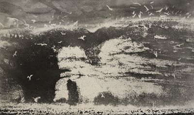 Norman Ackroyd, 'Brempton Cleffs - Crab Rock', 2020