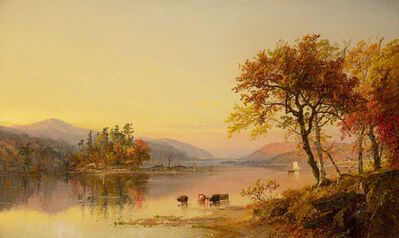 Jasper Francis Cropsey, 'Autumn Afternoon, Greenwood Lake', 1873