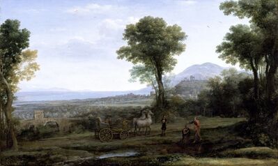 Claude Lorrain, 'Landscape with St. Philip Baptizing the Eunuch', 1678