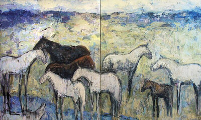 Theodore Waddell, 'Ennis Horses 6', ca. 1980
