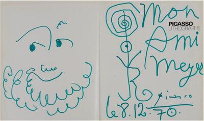 Pablo Picasso, 'Dédicace pour le Docteur Meyer', 1967