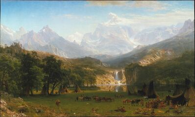 Albert Bierstadt, 'The Rocky Mountains, Lander's Peak', 1863