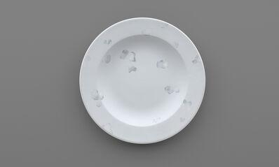 Yu-cheng Chou 周育正, 'Refresh, Sacrifice, New Hygiene, Home, Washing, Chou Yu-Cheng, Acrylic, Rag, Scouring Pad, Plate, Image, Album #3', 2018