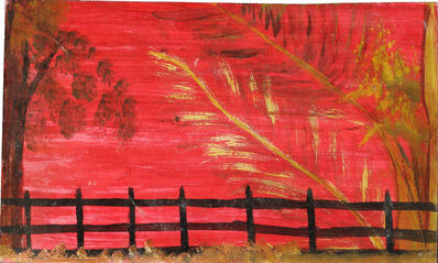 Frank Walter, 'Red Sky, Black Fence', n.d.