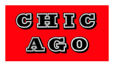 Ben Eine, 'Chicago (Red)', 2018