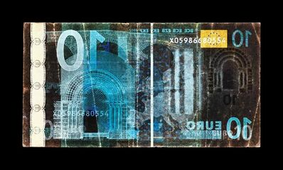 David LaChapelle, 'Negative Currency: Ten Euro Used as Negative', 2018