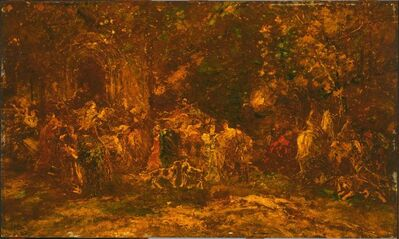 Adolphe Monticelli, 'Woodland Worship', ca. 1872