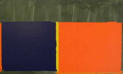John Hoyland, 'Large Swiss Orange and Blue', 1969
