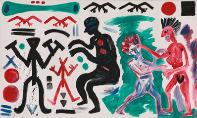 "A.R. Penck, 'Vorwärts zum 38. Parteitag (Onward to the 38th Party Congress)""', 1983"