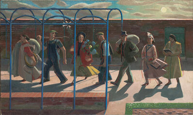 Evelyn Dunbar, 'Seven Days, inscribed on stretcher 'Design for mural'', 1939